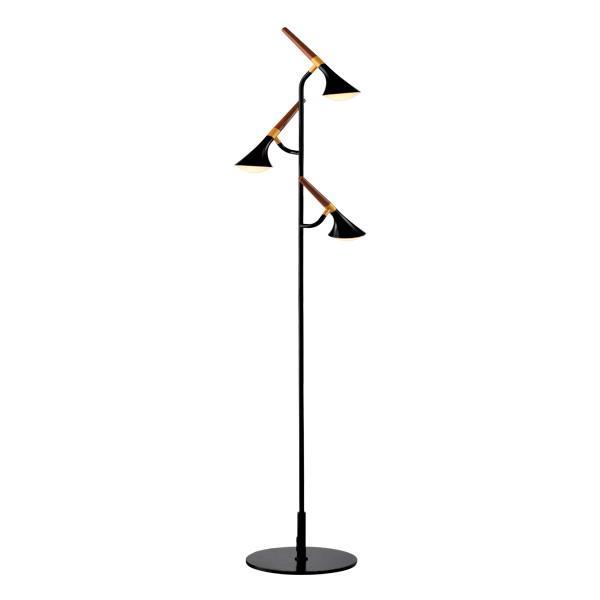 ELMARK LED stojanová lampa DUNCAN 15W 3000K čierny/drevo