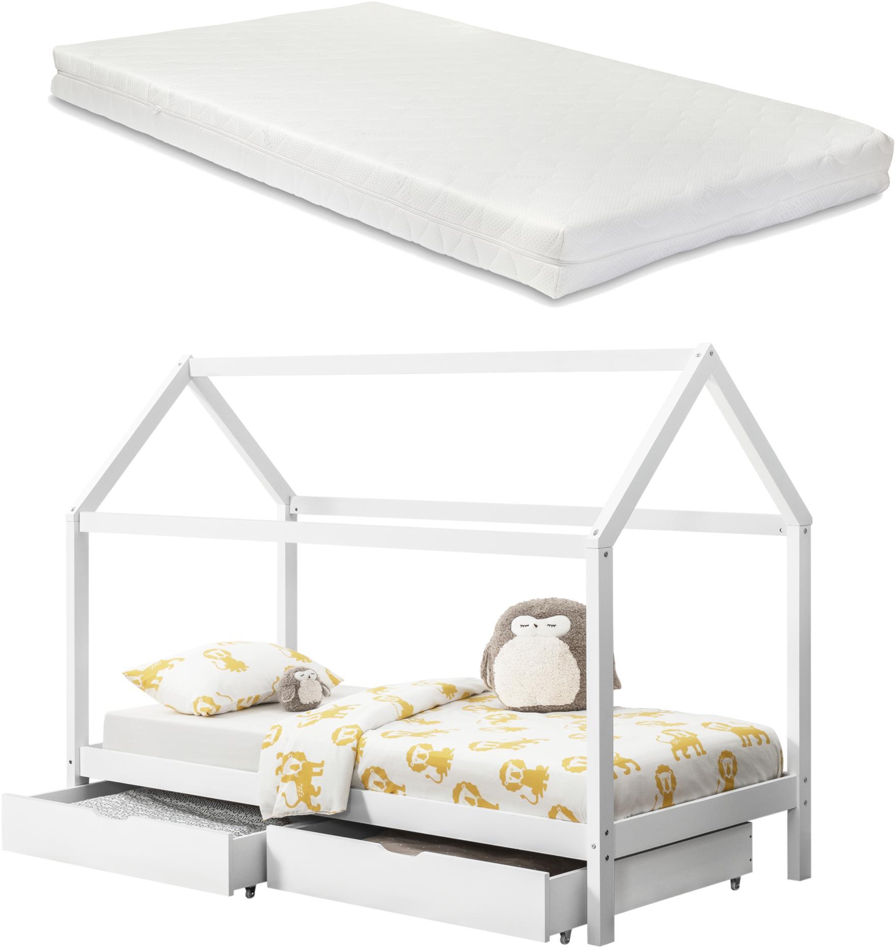 [en.casa] Detská posteľ AAKB-8688 s matracom a roštom