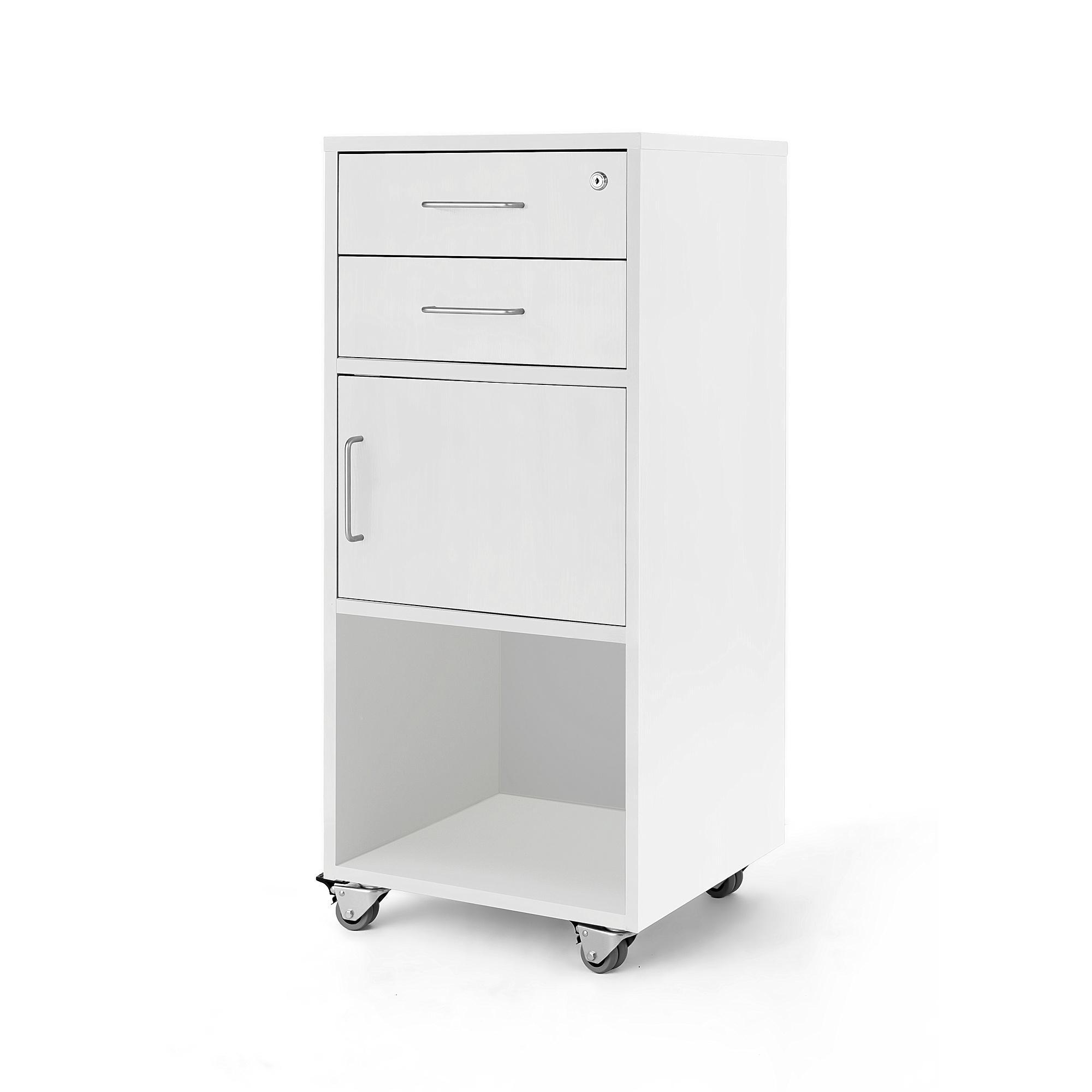 #en teacher drawers beech with door. W460xD450xH1180 mm.
