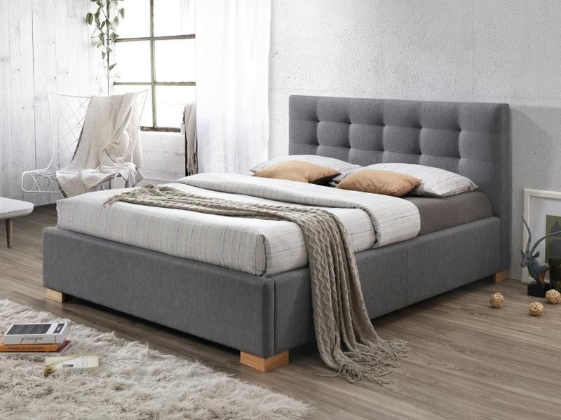 Eshopist Čalúnená posteľ COPENHAGEN 160 x 200 cm farba šedá/dub