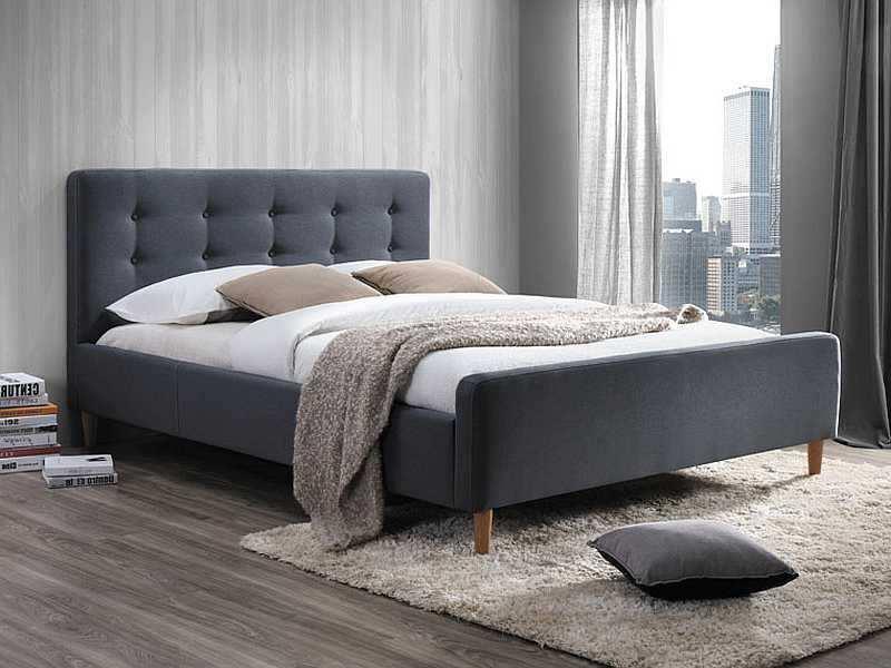 Eshopist Čalúnená posteľ PINKO 160 x 200 cm farba šedá