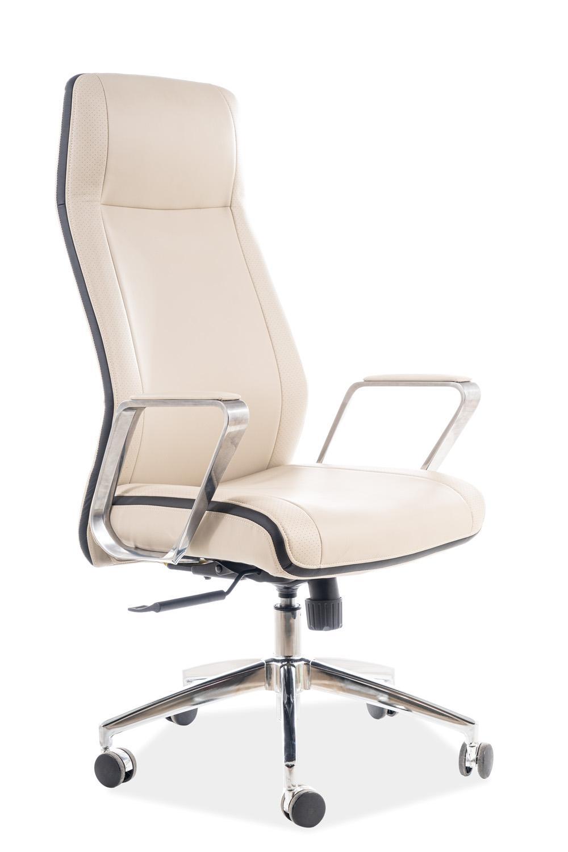Eshopist Kancelárska stolička Q-321 béžová eko koža