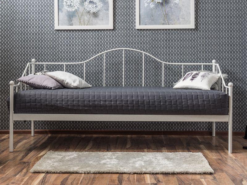 Eshopist Kovová posteľ DOVER 90 x 200 cm biela