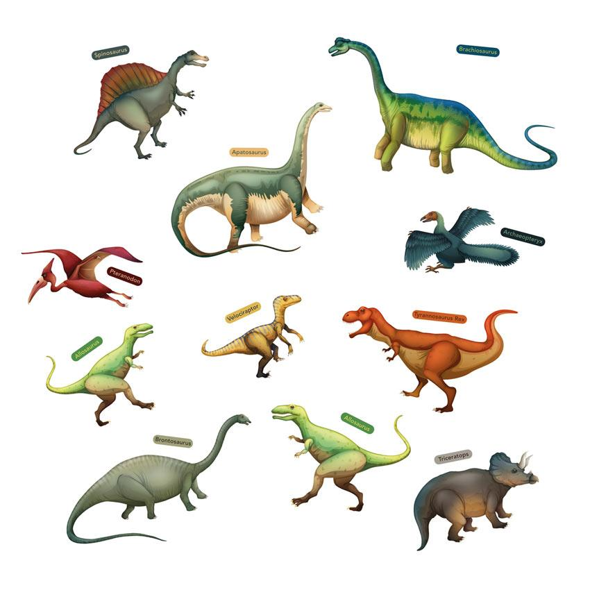 Eurographics Nálepky na sklo - Dinosaury 25x70cm