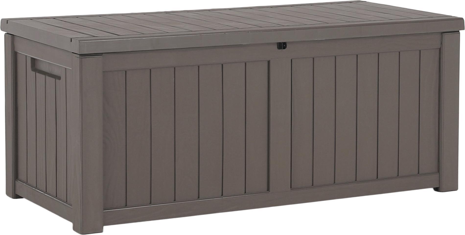 Extra veľký záhradný úložný box, 143cm, sivá, BABUL