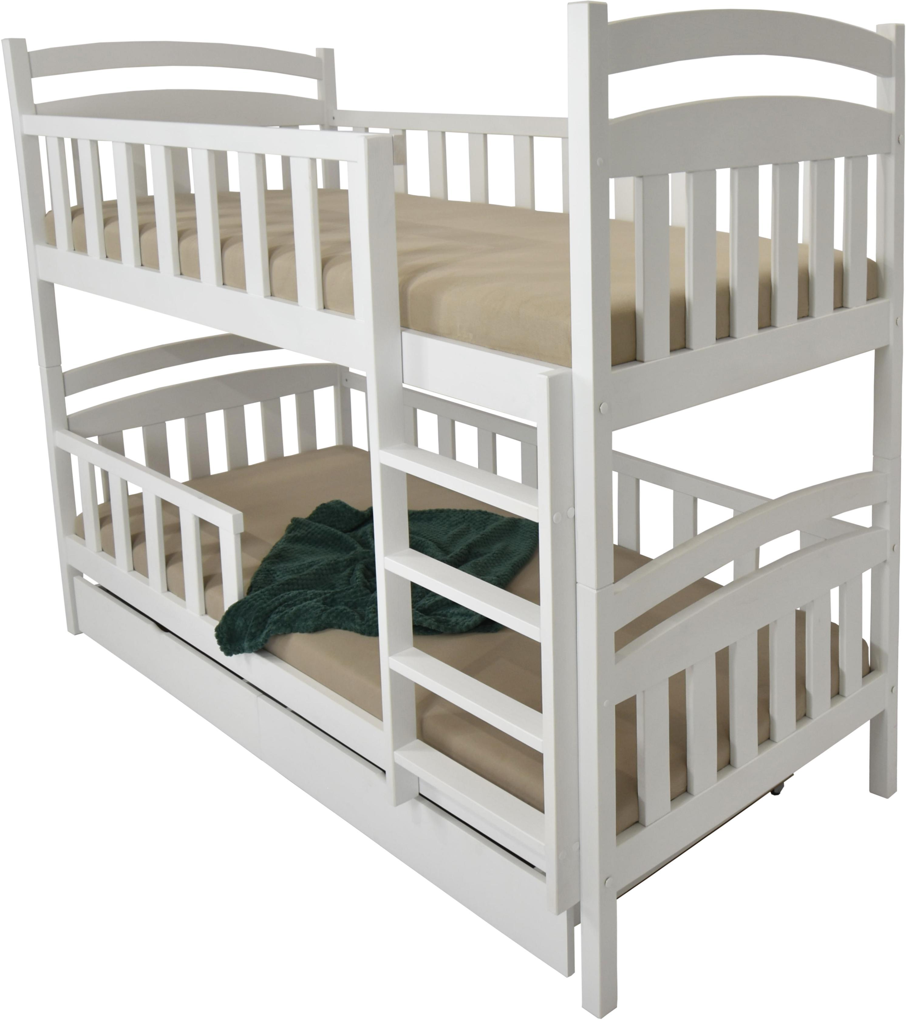 FA Detská poschodová posteľ Paula 7 180x80 Farba: Biela