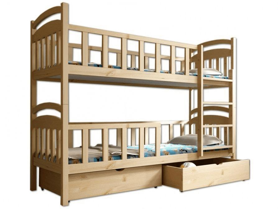 FA Detská poschodová posteľ Paula 7 180x80 Farba: Prírodná