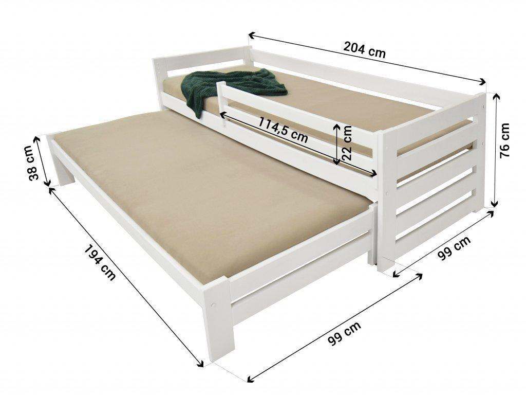 FA Detská posteľ s prístelkou Veronika 7 90x200 - prírodná