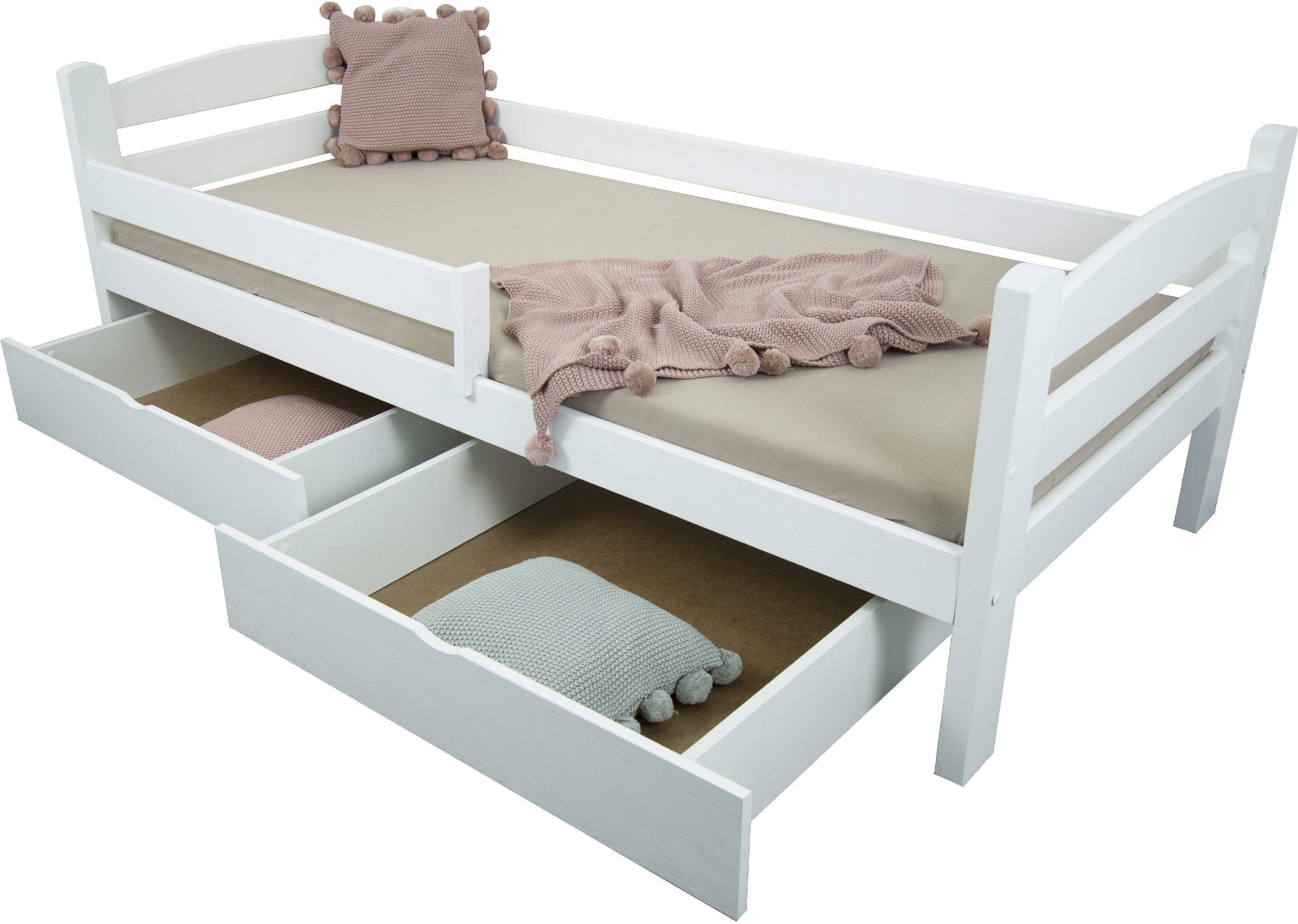 FA Detská posteľ so zábranou Oľga 5 90x200 - biela