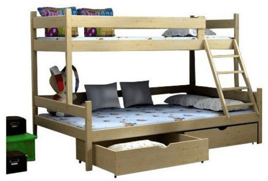 FA Poschodová posteľ Petra 6 200x120x90 Farba: Prírodná