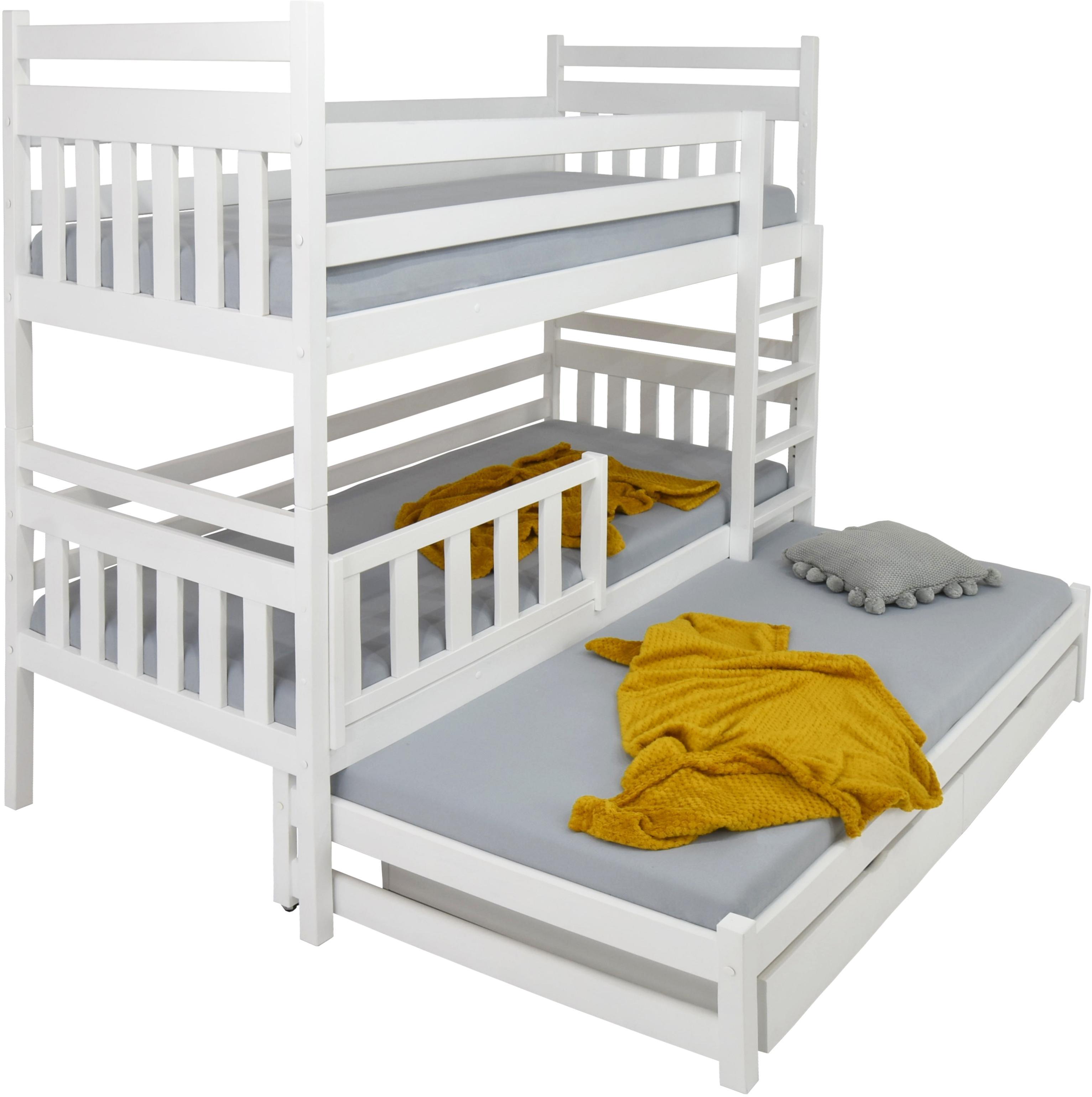 FA Poschodová posteľ s prístelkou Petra 5 200x90 Farba: Biela