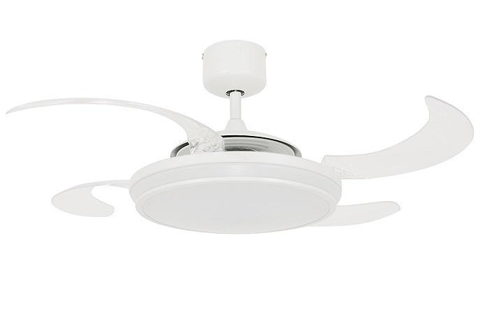 """FANAWAY EVO1 LED 211035 48"""" biela/transparentná Reverzný stropný ventilátor"""