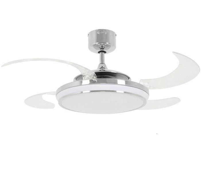 FANAWAY EVO1 LED 211037 48″ chróm/transparentná Reverzný stropný ventilátor