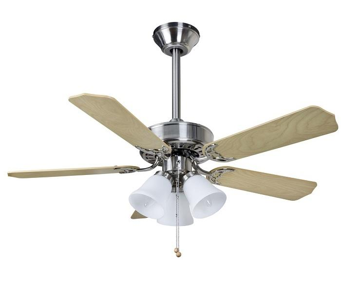 "FANTASIA BELAIRE COMBI 110439 42"" nerez/svetlé drevo Reverzný stropný ventilátor"