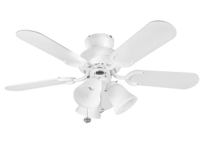 "FANTASIA CAPRI COMBI 110194 36"" lesklá biela/matná biela Reverzný stropný ventilátor"