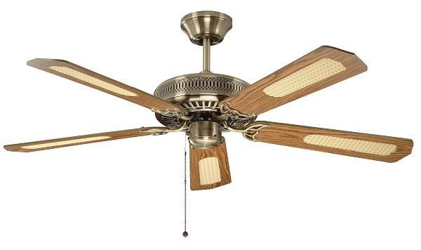 "FANTASIA CLASSIC 110224 52"" antická mosadz/dub/mahagón Reverzný stropný ventilátor"