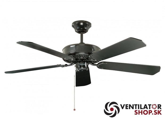 """FANTASIA CLASSIC 110460 52"""" čierna/mahagón Reverzný stropný ventilátor"""