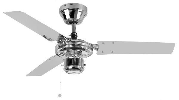 """FANTASIA KROMA 111986 36"""" chróm Reverzný stropný ventilátor"""
