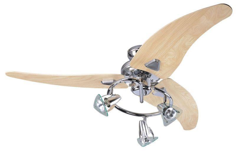 """FANTASIA SCORPION 111603 48"""" chróm/dub  Reverzný stropný ventilátor"""
