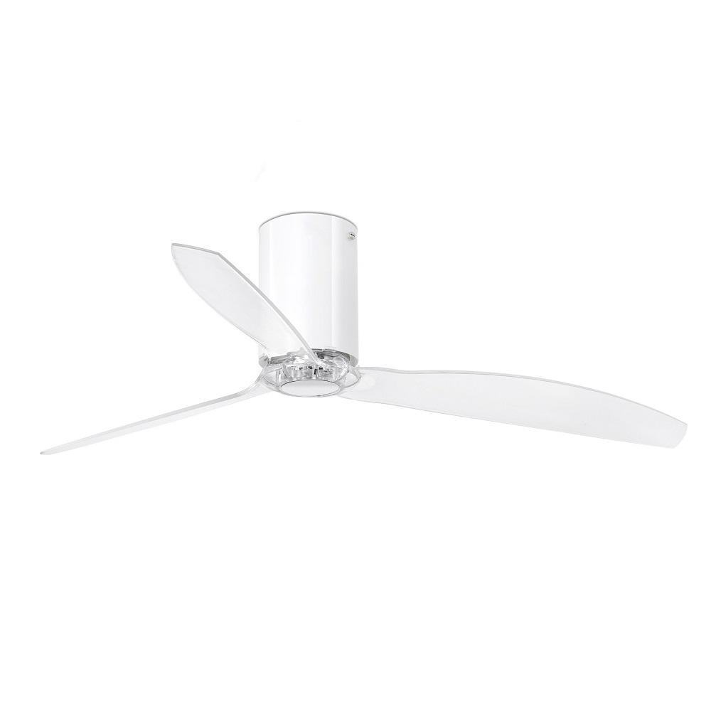 """FARO MINI TUBE 32038 50,4"""" biely lesk/transparentná Reverzný stropný ventilátor"""