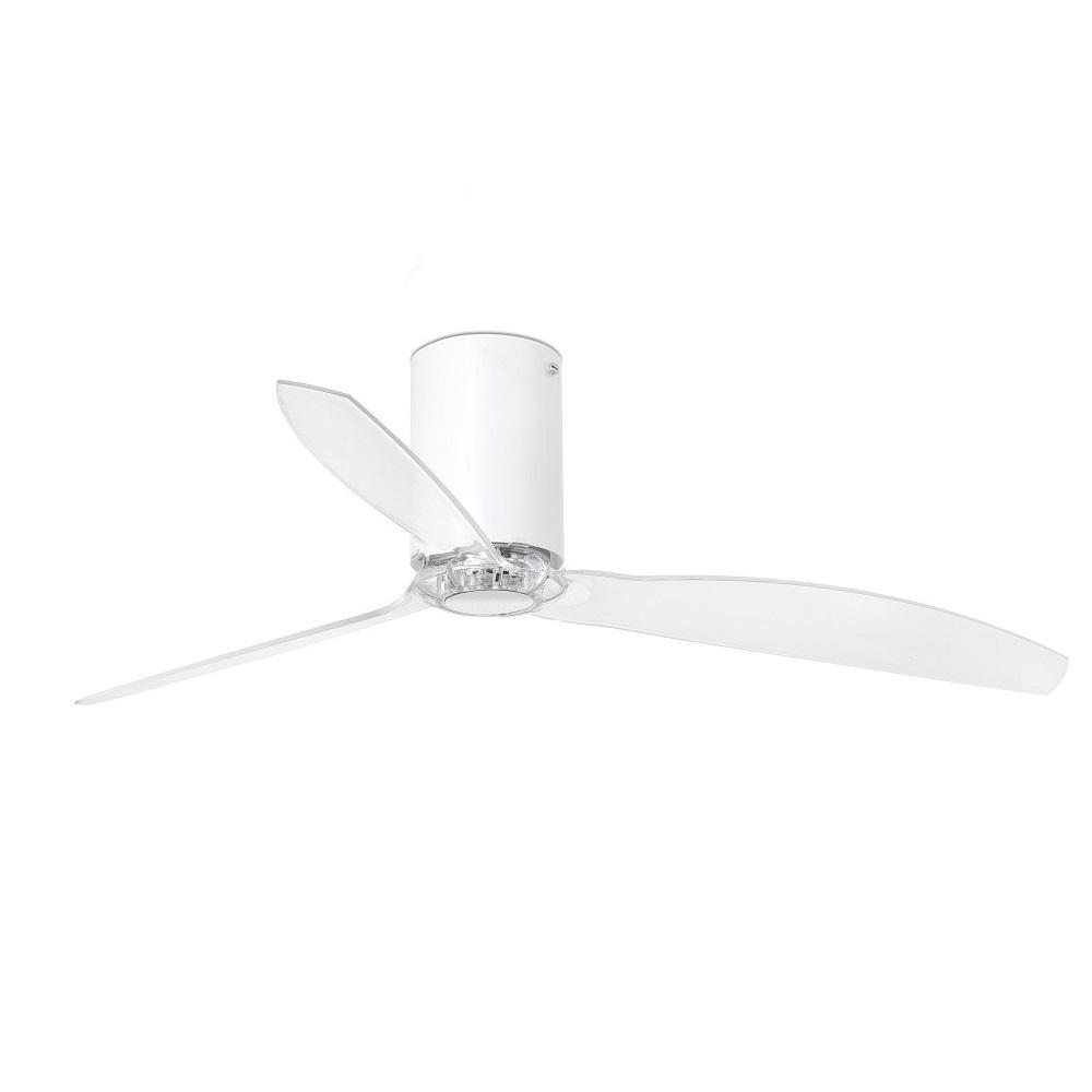 """FARO MINI TUBE FAN 32039 50,4"""" matná biela/transparentná Reverzný stropný ventilátor"""