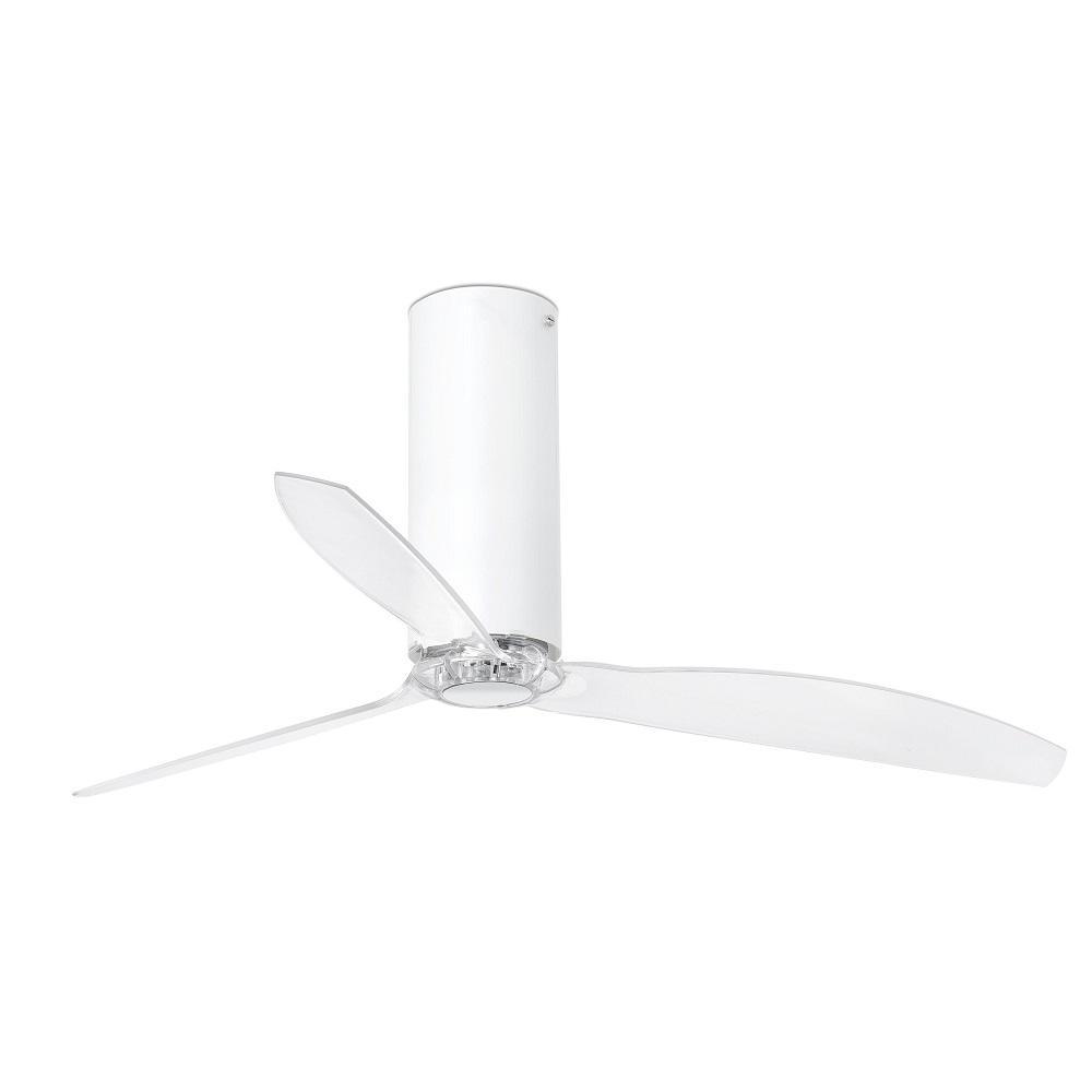 """FARO TUBE FAN 32033 50,4"""" biela lesk/transparentná Reverzný stropný ventilátor"""