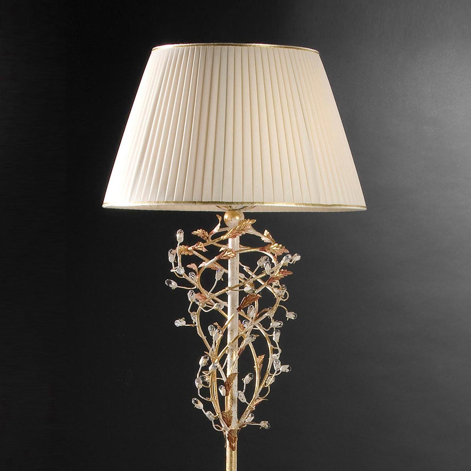 Ferro Luce Stojaca lampa Pompeji krémovo-zlatá