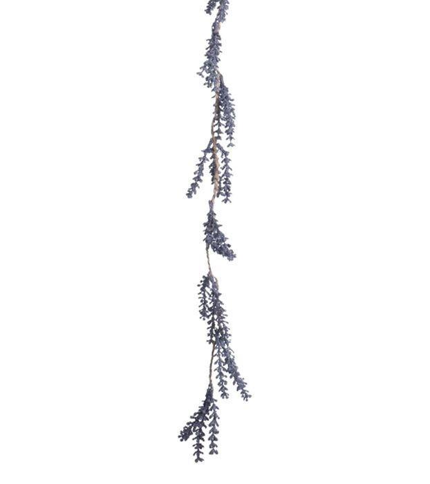 Fialová dekoračné girlanda levandule - 7 * 2 * 100cm
