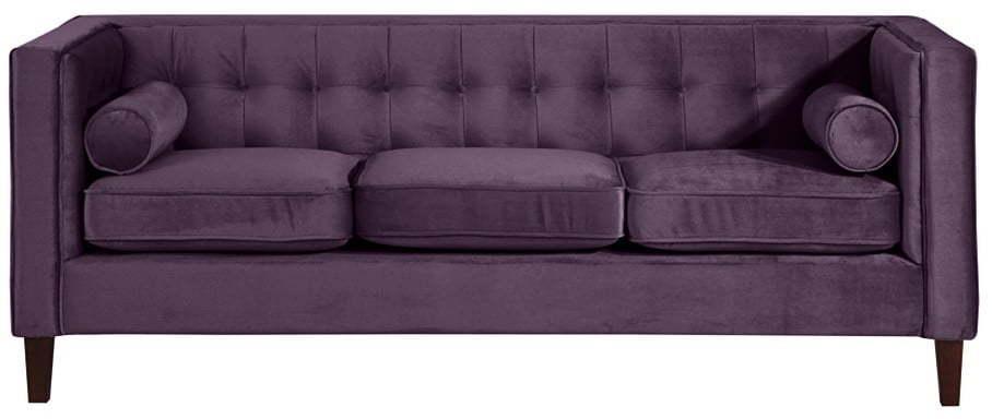 Fialová pohovka Max Winzer Jeronimo, 215 cm