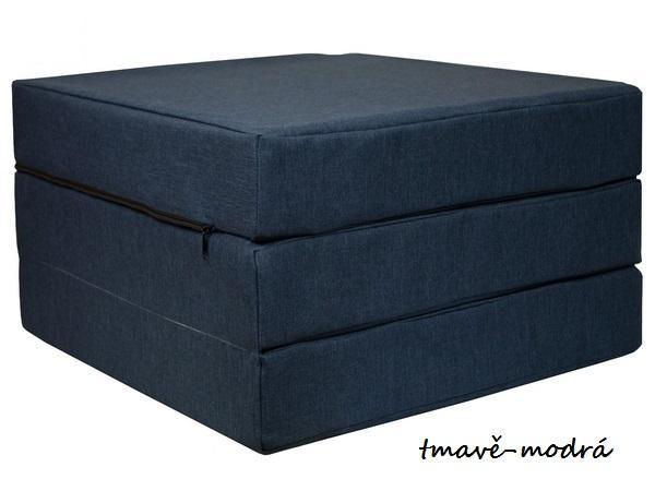 FIMEX Rozkladacie matrace pre hostí ELEGANCE 65x195cm Vzor: tmavě-modrá