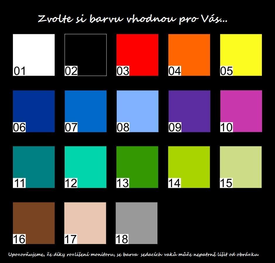 FITMANIA Sedací vak SAKO HRUŠKA XXL 450L Barva: 12 TYRKYSOVÁ