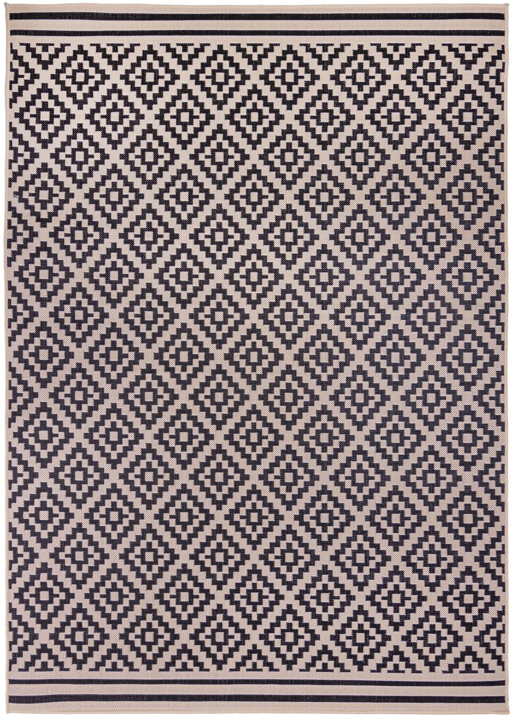Flair Rugs koberce Kusový koberec Florence Alfresco Moretti Black/Beige - 66x230 cm
