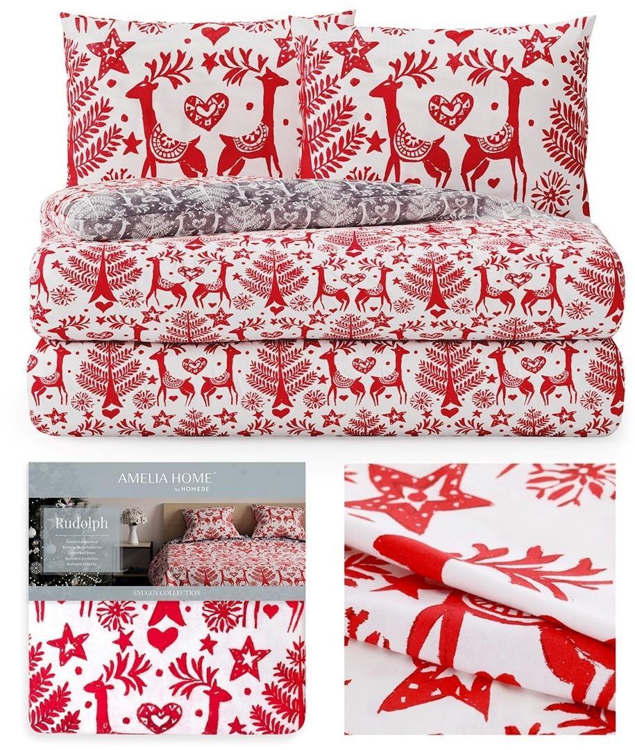 Flanelové obliečky Rudolph II červené
