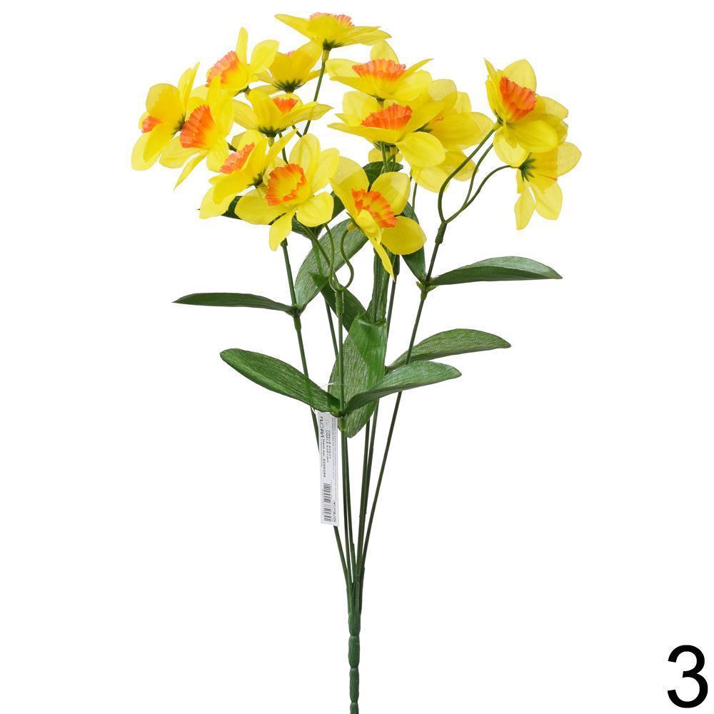 Kytička narcis x6 oranžovo-žltá 9200280OZ