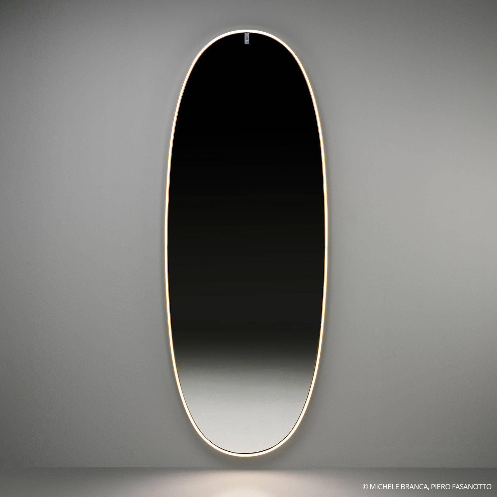 FLOS FLOSLaPlusBelle LED nástenné zrkadlo leštený bronz