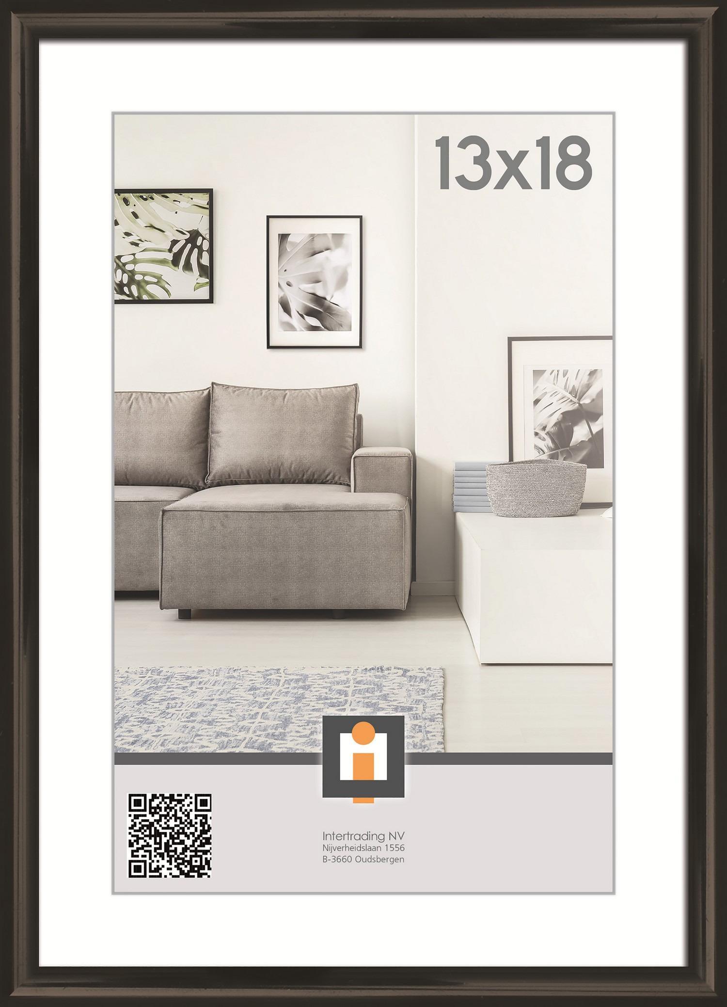 Fotorámik Linie 13x18 cm, čierny