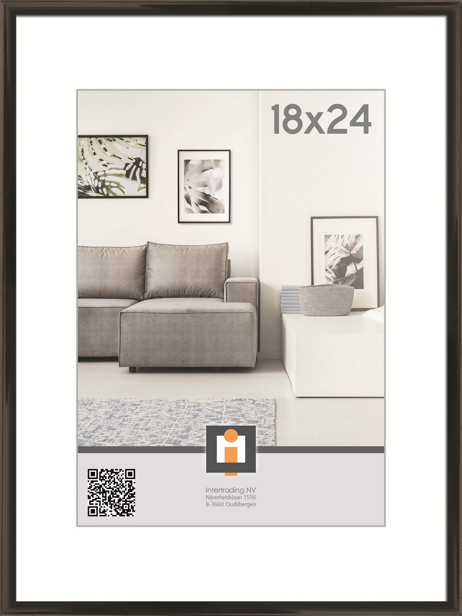 Fotorámik Linie 18x24 cm, čierny