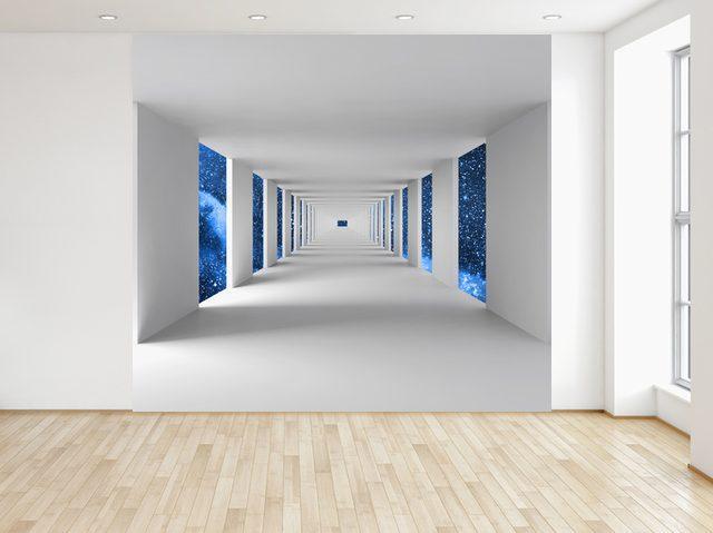 Fototapeta Chodba a modrý vesmír 150x200cm FT4720A_2M