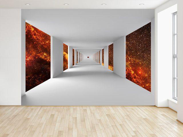 Fototapeta Chodba a ohnivý vesmír 200x135cm FT4775A_1AL