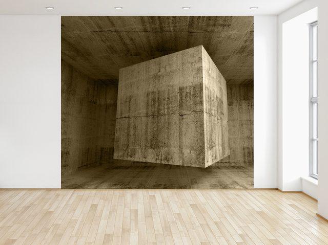 Fototapeta Lietajúca kamenná kocka 3D 150x200cm FT3713A_2M