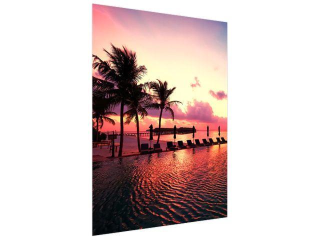 Fototapeta Západ slnka na pláži na Maledivách 150x200cm FT4162A_2M