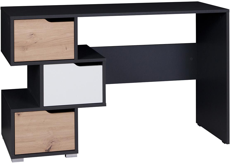 GB Písací stôl Iva Farba: grafit/biela/dub