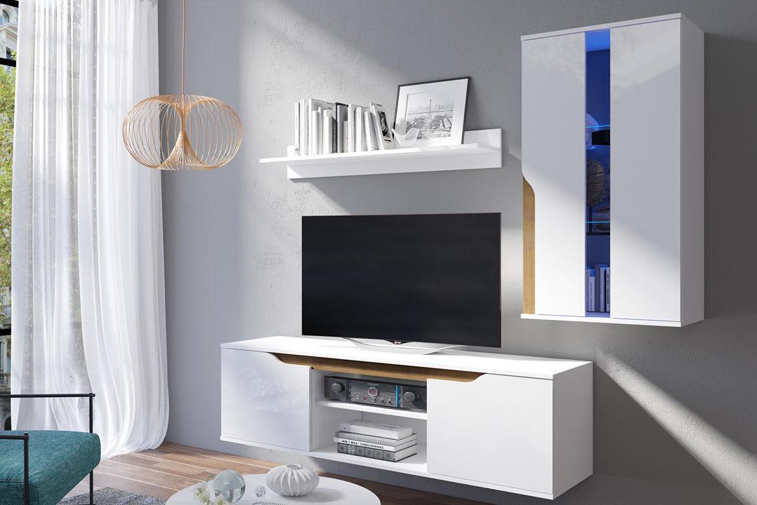 GB TV stolík LANY - biela/dub