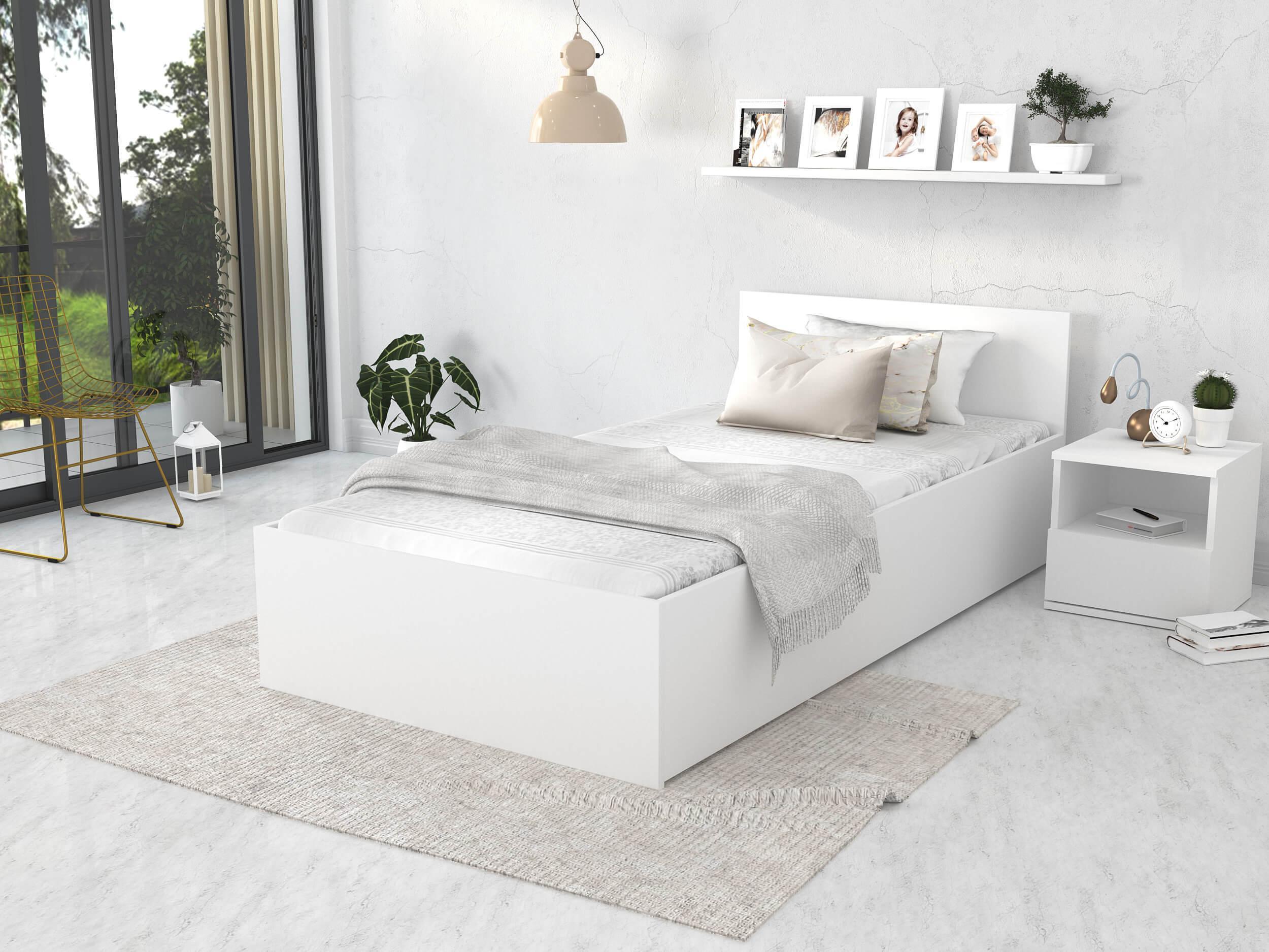 GL Jednolôžková posteľ Dolly - biela Rozmer: 200x90