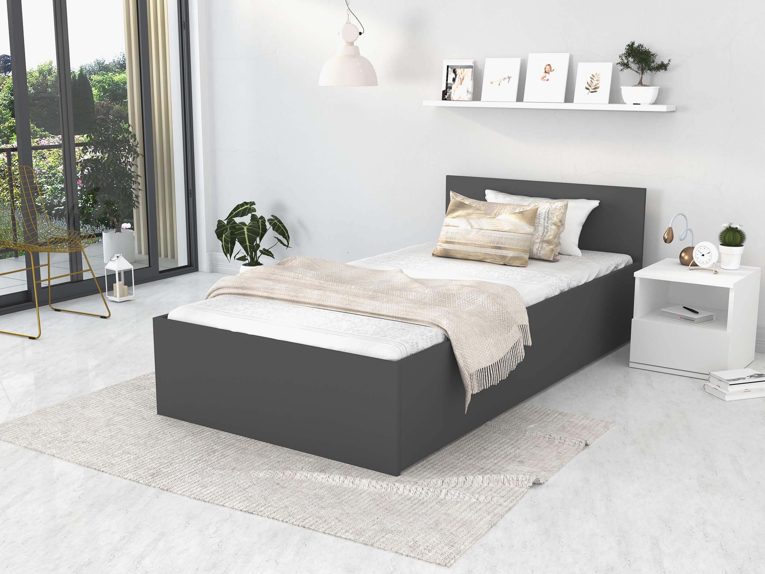 GL Jednolôžková posteľ Dolly - sivá Rozmer: 200x120