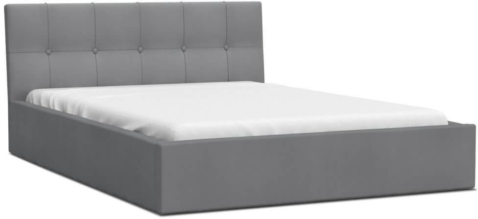 GM Čalúnená manželská posteľ Ingrit - sivá Rozmer lôžka: 160x200