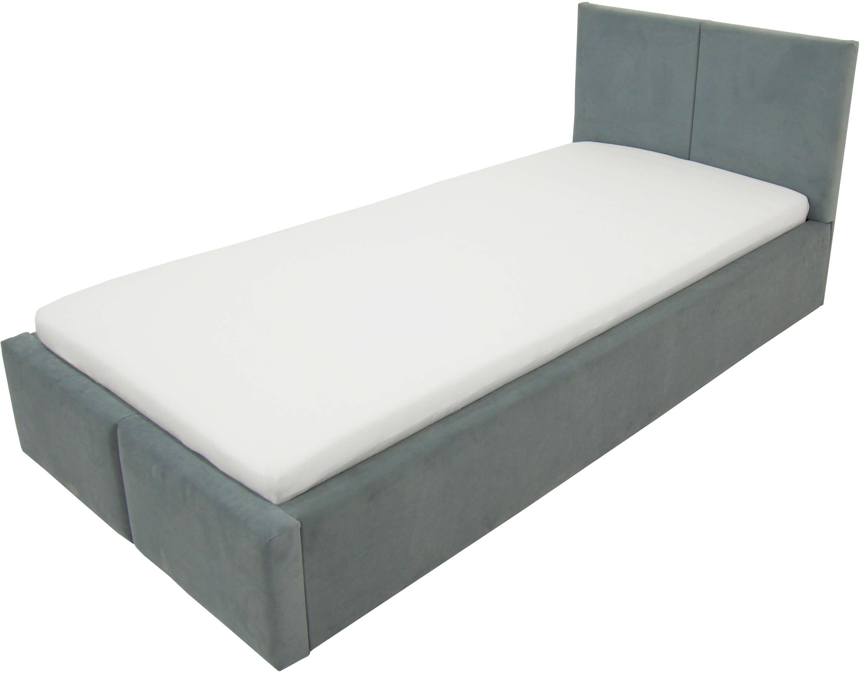 GM Čalúnená posteľ Izabela 90x200 - sivá
