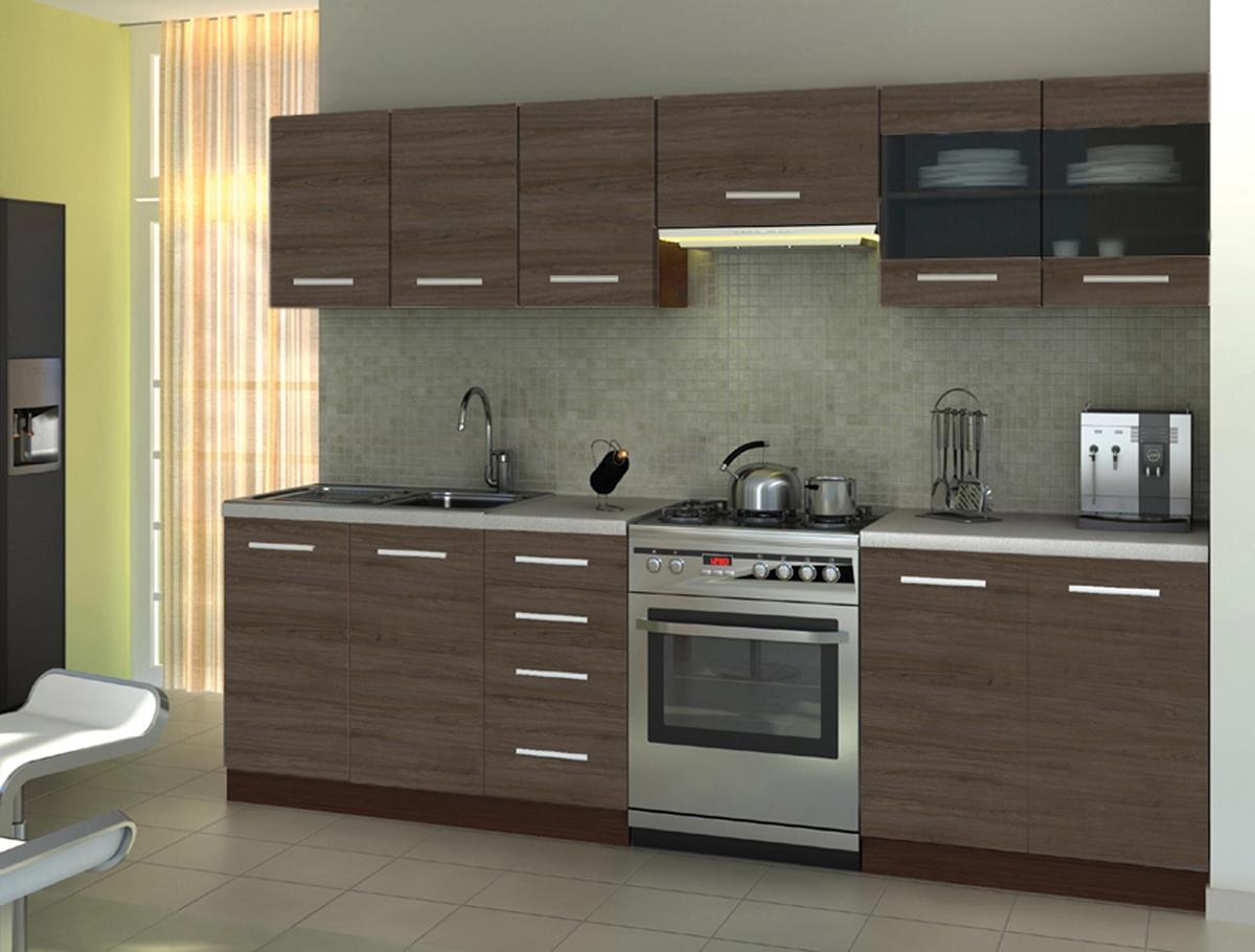 HALMAR Amanda 1 260 kuchyňa wenge / akácia škoricová