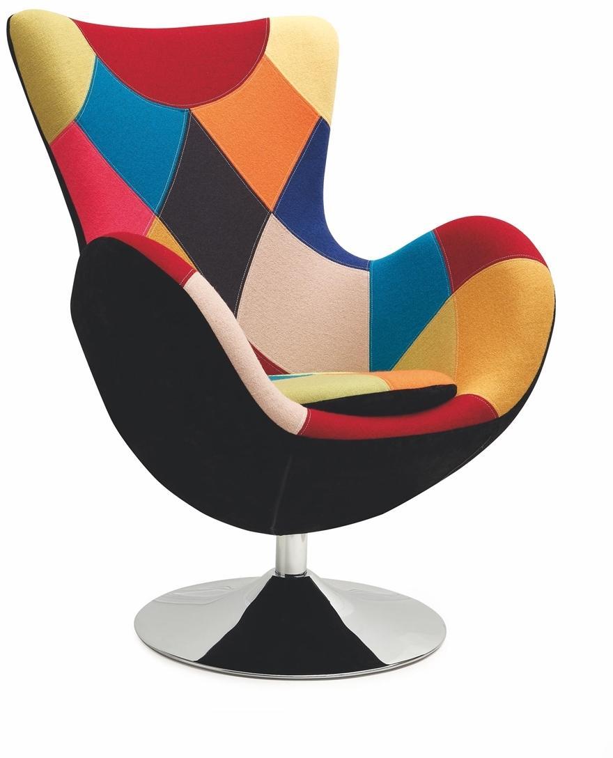 HALMAR Butterfly dizajnové otočné kreslo kombinácia farieb / čierna
