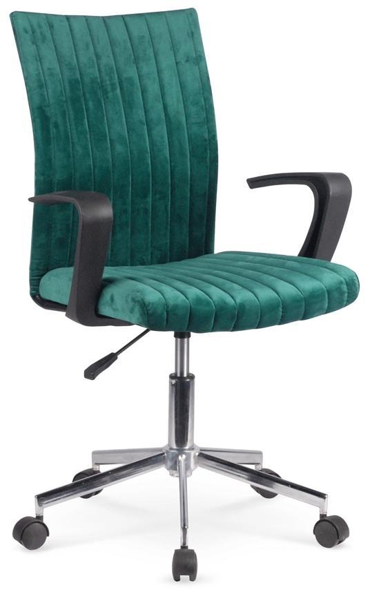 HALMAR Doral kancelárska stolička s podrúčkami tmavozelená